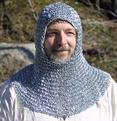 IR80723H  RIVETED CHAINMAIL HOOD BY IOTC ARMOURY
